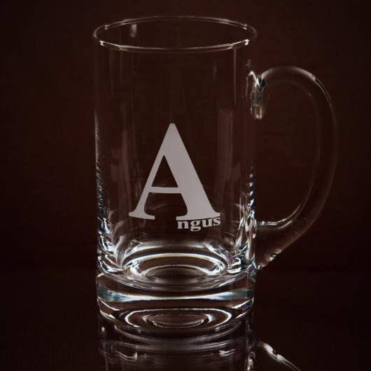 Beer Tankard Personalised on front