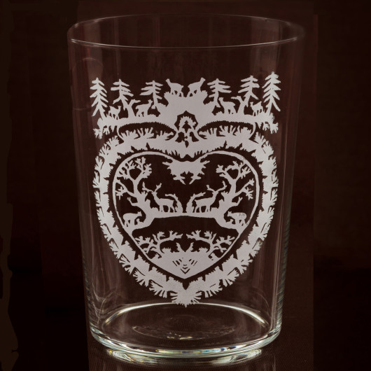 Skye tumbler Woodland Heart large