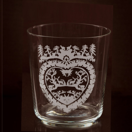 Skye tumbler Woodland heart small