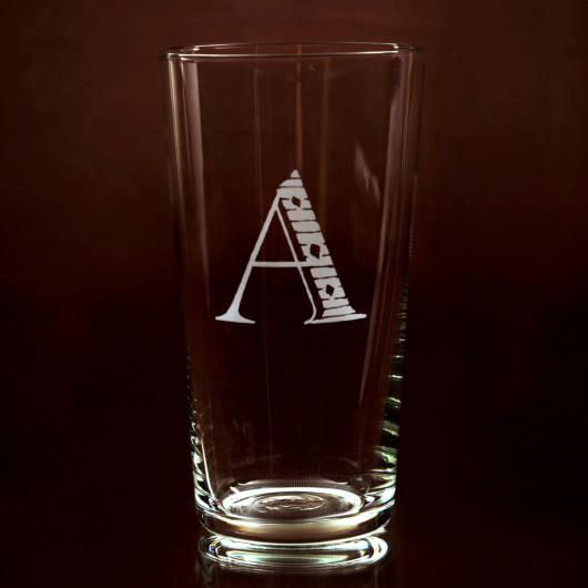 juice tumbler initial A