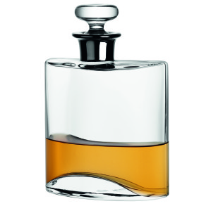 Silver top flask