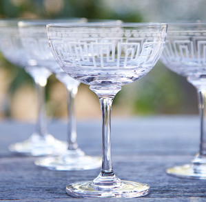 The Vintage list Champagne saucers